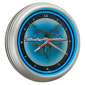 Photo of Harley-Davidson 15� Cobalt Flames Eagle Neon Clock