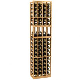 Enlarge Allavino 4 Column 68 Individual Bottle Display Wood Wine Rack