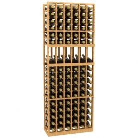 Enlarge 6 Column Display Wood Wine Rack