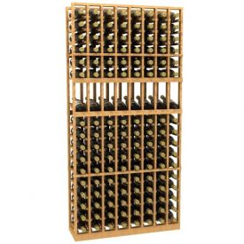 Enlarge Allavino 8 Column 136 Individual Bottle Wood Wine Rack with Display Row
