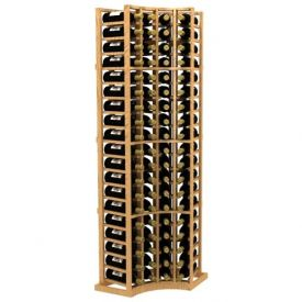 Enlarge Curved Corner Standard Wood Wine Rack