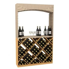 Enlarge Allavino Diamond Wood Wine Bin for Archway