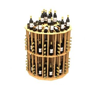 Enlarge Allavino Commercial Round Aisle 204 Bottle Wood Wine Rack