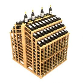 Enlarge Allavino Commercial Triple Reveal Aisle 440 Bottle Wood Wine Rack