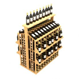 Enlarge Allavino Commercial Four Shelf Aisle with Table Top 300 Bottle Wine Rack
