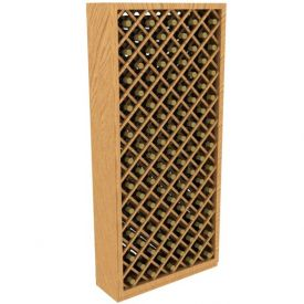Enlarge Allavino 95 Individual Bottle Diamond Wood Wine Rack Bin