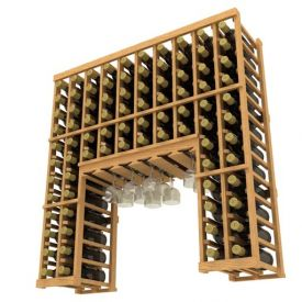 Enlarge Stackable Wine Rack with Glass Rack
