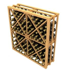 Enlarge Allavino Stackable Diamond Cube 144 Bottle Wood Wine Rack
