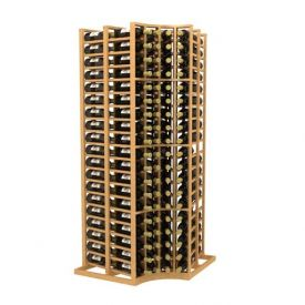 Enlarge Allavino Double Deep Curved Corner Standard 152 Bottle Wood Wine Rack