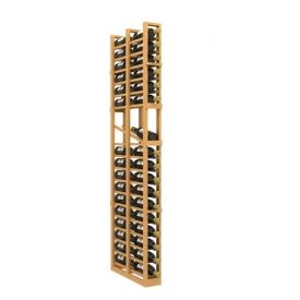 Enlarge Allavino Double Deep 1 Column 34 Bottle Wood Wine Rack with Display Row