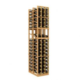 Enlarge Allavino Double Deep 3 Column 114 Bottle Wood Wine Rack with Display Row