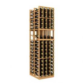 Enlarge Allavino Double Deep 4 Column 136 Bottle Wood Wine Rack with Display Row