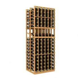 Enlarge Allavino Double Deep 6 Column 204 Bottle Wood Wine Rack with Display Row