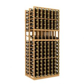 Enlarge Allavino Double Deep 7 Column 238 Bottle Wood Wine Rack with Display Row