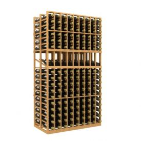 Enlarge Allavino Double Deep 9 Column 306 Bottle Wood Wine Rack with Display Row
