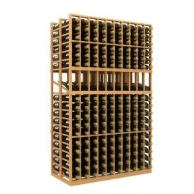 Enlarge Allavino Double Deep 10 Column 340 Bottle Wood Wine Rack with Display Row