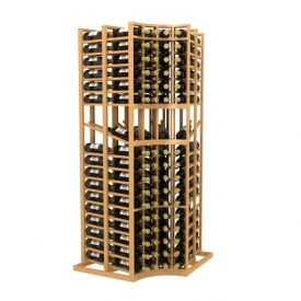Enlarge Allavino Double Deep Curved Corner 136 Bottle Wood Wine Rack with Display Row