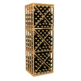 Enlarge Allavino Double Deep 264 Bottle Lattice X-Cube Wood Wine Rack