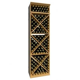 Enlarge Allavino 7' Solid X-Cube 152 Bottle Wood Wine Rack