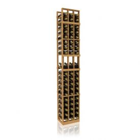 Enlarge Allavino 7' Three Column 57 Bottle Wood Wine Rack with Display Row