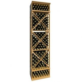 Enlarge Allavino 8' Lattice X-Cube Wood Wine Rack