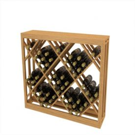 Enlarge Allavino Lattice Diamond Wood Wine Bin