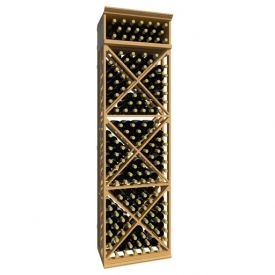 Enlarge Allavino 7' Lattice X-Cube Wood Wine Rack