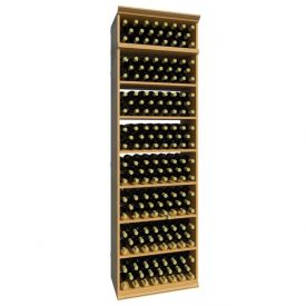 Enlarge Allavino 7' Solid Rectangular Wood Wine Bin