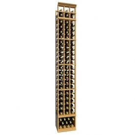 Enlarge Allavino 8' Three Column 69 Bottle Standard Wood Wine Rack