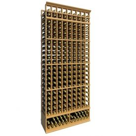 Enlarge Allavino 8' Ten Column 210 Bottle Standard Wood Wine Rack