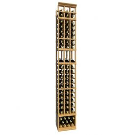 Enlarge Allavino 8' Three Column 63 Bottle Wood Wine Rack with Display Row