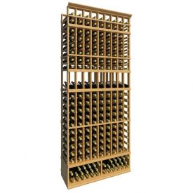 Enlarge 8' Nine Column Display Wood Wine Rack