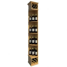 Enlarge 8' Solid Quarter Round Wine Display - Square Base