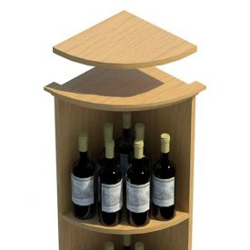 Enlarge Allavino Round Base Quarter Round Top Shelf