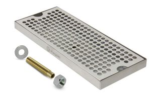 3 Photo of 12 inch Stainless Steel Surface Mount Drain Tray, with Drain