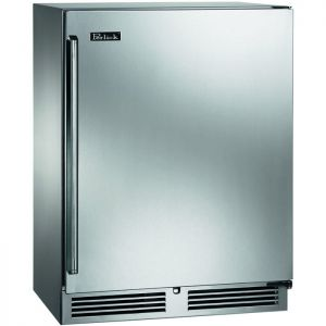 Photo of Shallow Depth Signature Series Sottile Outdoor Refrigerator - Solid Stainless Steel Door - Right Hinge