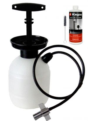 3 Photo of Deluxe Hand Pump Pressurized Keg Beer Kegerator Cleaning Kit w/ 32 oz. Cleaner