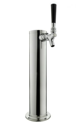 3 Photo of 14 inch Tall Polished Stainless Steel Tower - No Faucets