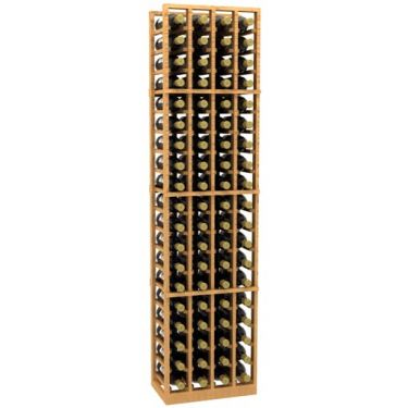 4 Column Wood Wine Rack