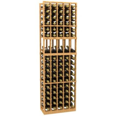 5 Column Display Wood Wine Rack
