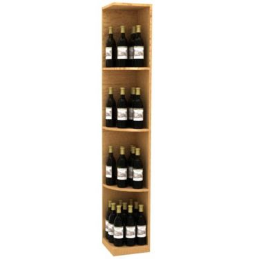 Solid Quarter Round Wine Display - Square Base