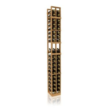 7' Two Column Display Wood Wine Rack