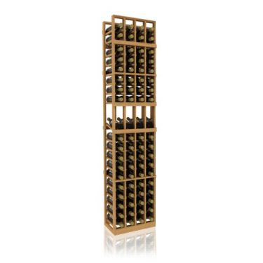 7' Four Column Display Wood Wine Rack