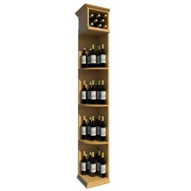 7' Solid Quarter Round Wine Display - Square Base