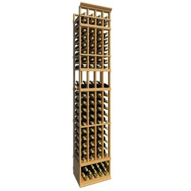 8' Four Column Display Wood Wine Rack
