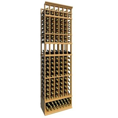 8' Six Column Display Wood Wine Rack