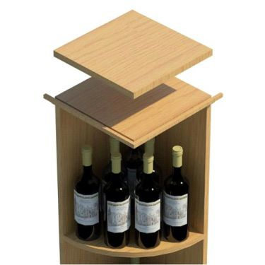 Square Base Quarter Round Top Shelf