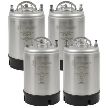 Four 2.5 Gallon Ball Lock Kegs