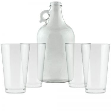 Clear Growler & Pint Glasses