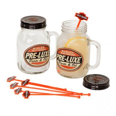 Harley-Davidson Glass Jar Set